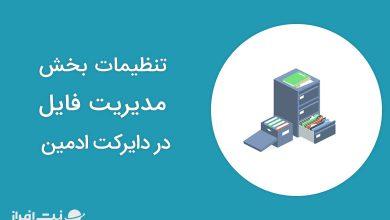 تنظیمات بخش مدیریت فایل در دایرکت ادمین